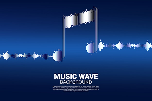 Sound wave music equalizer background.