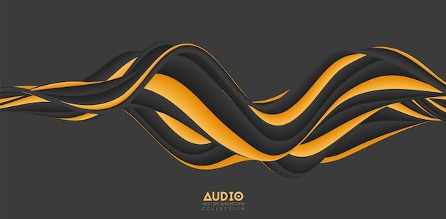 음파 시각화. 3d 다채로운 솔리드 파형입니다.