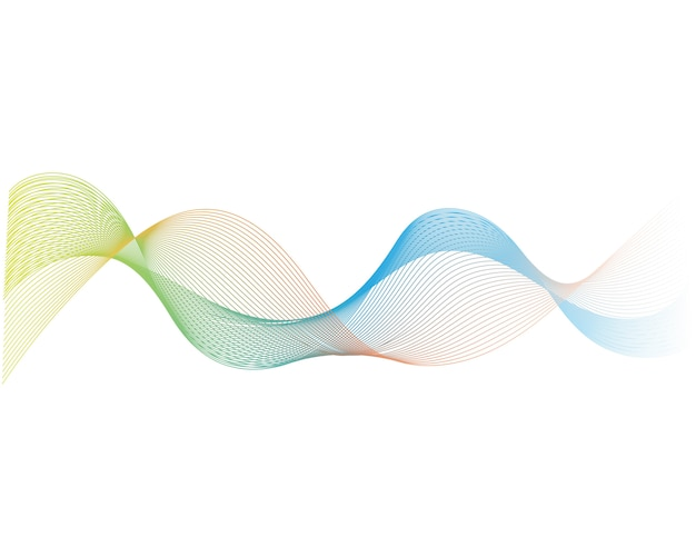 Sound wave white background