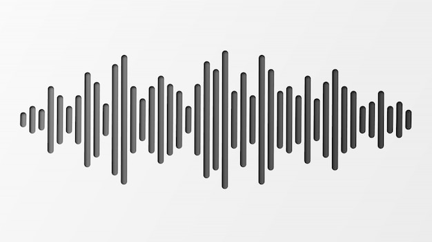 Sound wave with imitation of sound. audio identification technology.