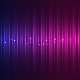Sound wave with particle effects