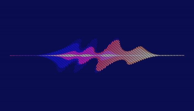 Sound waves, motion sound wave abstract background.