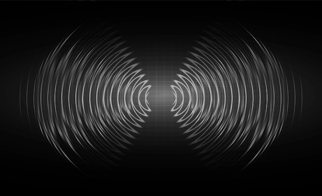 暗いブラックライトを振動させる音波