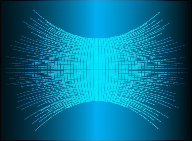 Sound waves oscillating dark blue light.