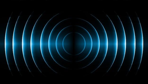 Звуковые волны, освещающие темно-синий свет
