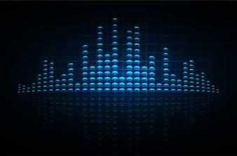 暗い青色光を振動させる音波