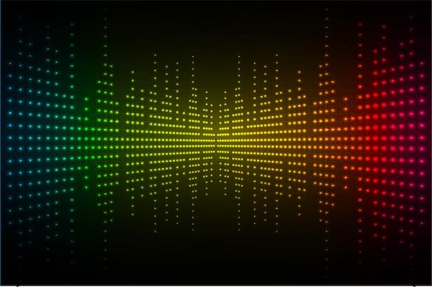 ダークブルーイエローレッドライトを振動させる音波