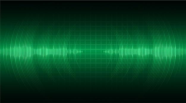 진한 녹색 빛을 발산하는 음파