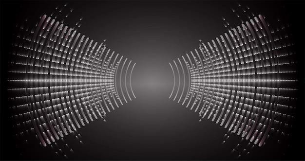 暗光を振動させる音波音楽ラジオイコライザー音声ベクトルオーディオ技術