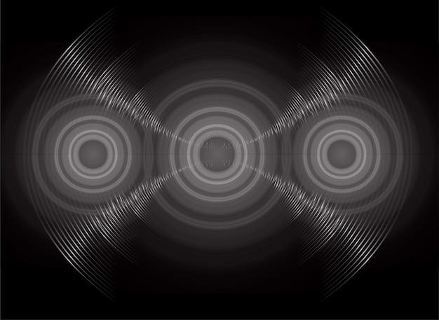 어두운 빛을 진동시키는 음파