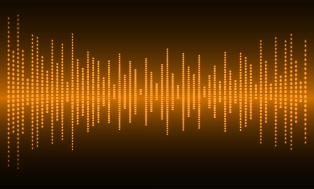 Sound waves oscillating dark orange light