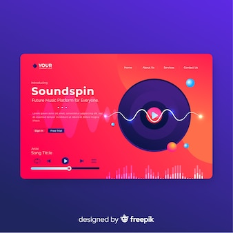 Soundspin Landing Page Template