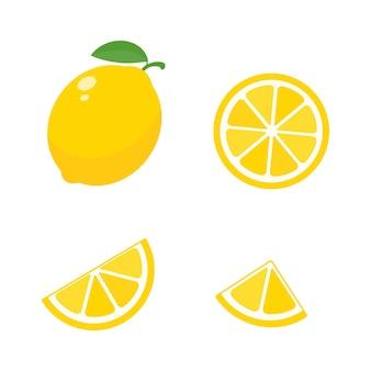새콤한 노란색 레몬. 고 비타민 c 레몬은 여름 레모네이드를 위해 조각으로 잘립니다.