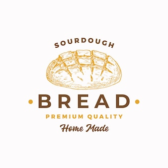 Sourdough bread abstract sign symbol or logo template