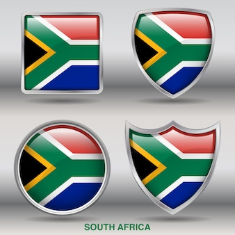 南アフリカ国旗ベベル4形アイコン