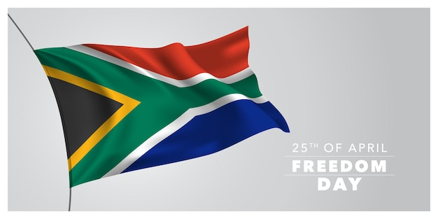 South africa happy freedom day greeting card