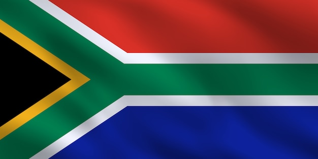 South africa national flag template