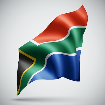 South africa, vector 3d flag isolated on white background