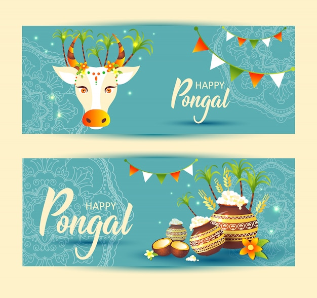 South indian festival pongal background template