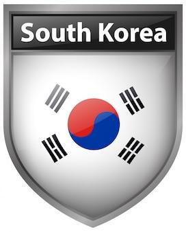 Bandiera della corea del sud sul design distintivo