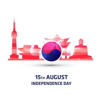 South korea monument independence day background