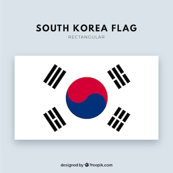 South korean flag background