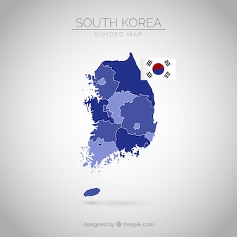 South korean map