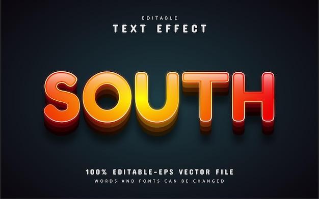 Южный текст, редактируемый текстовый эффект 3d
