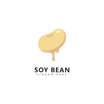 大豆ロゴ健康食品ベクトルデザイン