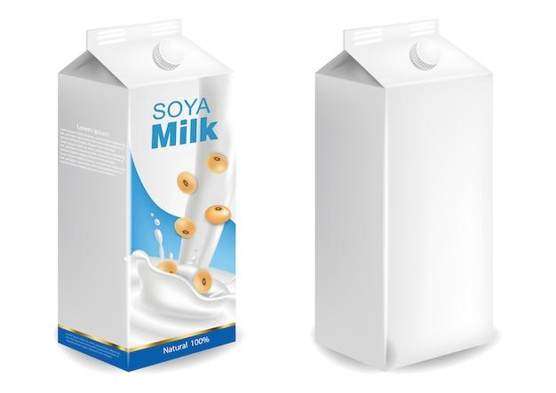 Soy milk mockup
