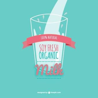 Soy milk vector