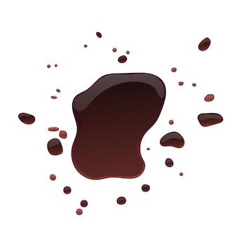 Soy sauce brown isolated puddles and splashes