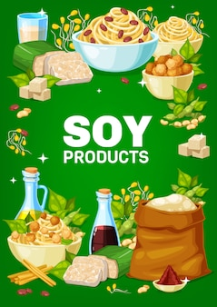 Soy and soybeans products  banner