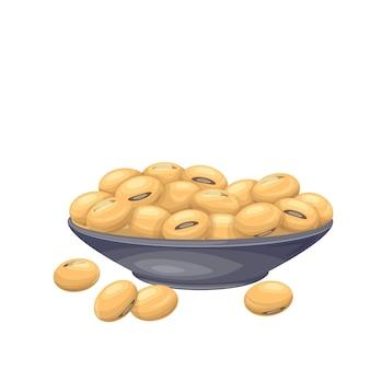 ボウルに大豆。