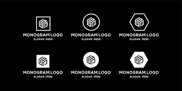 Sp logo design template initials