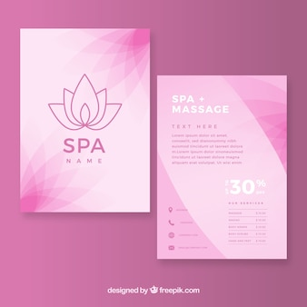 Spa and relax flyer template