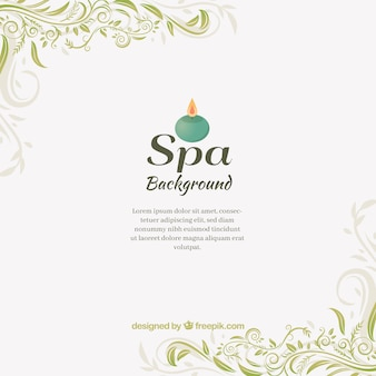 Spa background in flat design