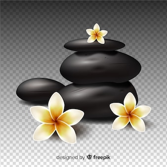 Spa background stones realistic style