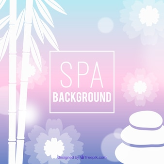 Spa background with plants and stones