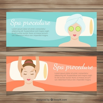 Spa banner pack Free Vector