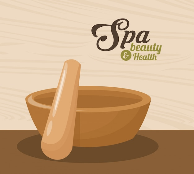 Spa beauty and health mortar