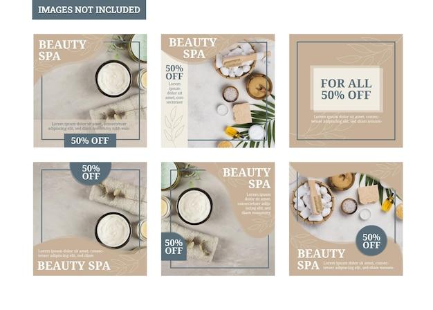 Spa beauty social media template