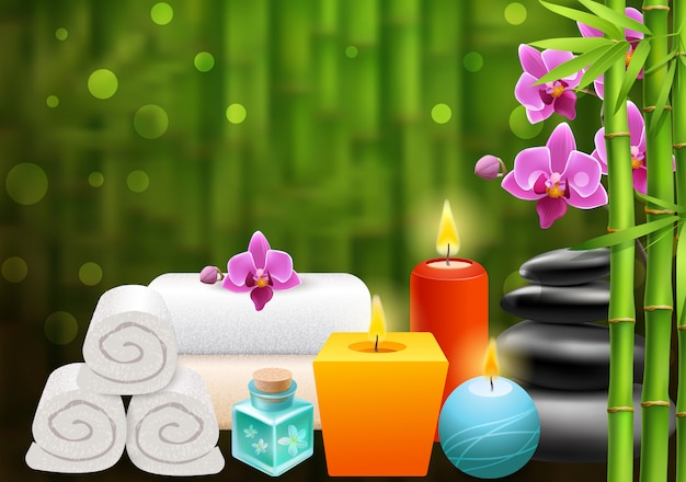 Spa bright colorful background