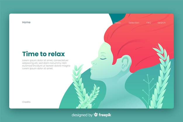 Spa center landing page template
