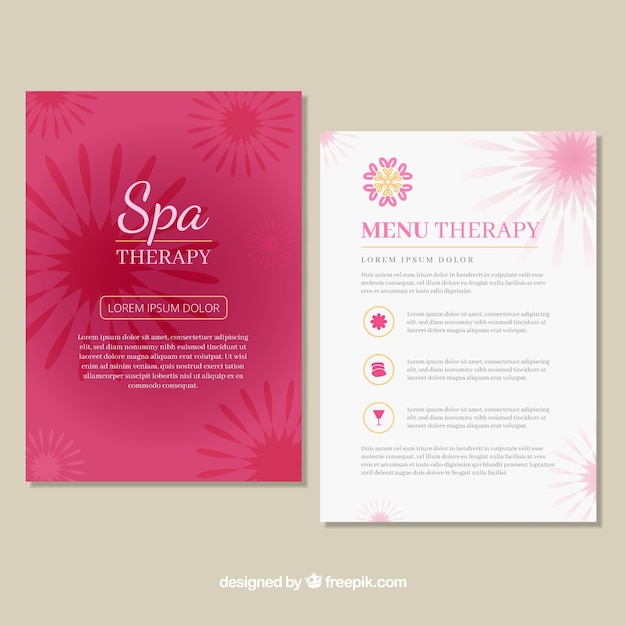 Spa Center Price List Template