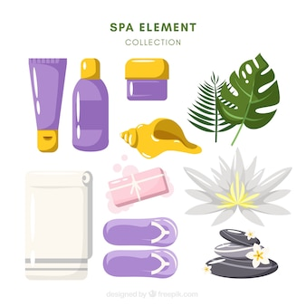 Spa collection of flat elements
