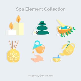 Collezione di elementi spa