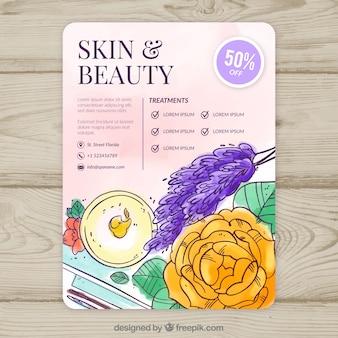 Spa flyer template with elegant design
