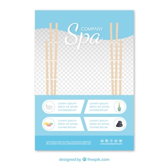 Spa flyer template with elegant design