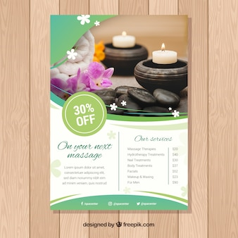 Spa flyer template with elegant style